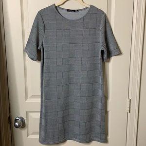 Boohoo plaid t-shirt dress.